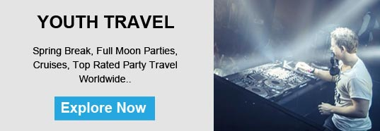 Youth Travel: Spring break, Full moon parties, cruises, top rated parties, travel worldwide