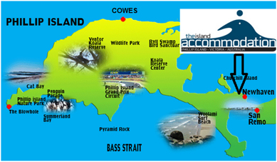 Phillip Island Accommodation Map