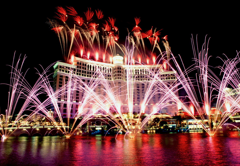 Fireworks at Bellagio Hotel, Las Vegas