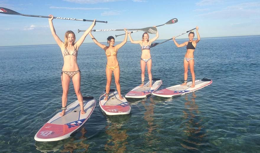 Paddle-boarding-at-Leavers