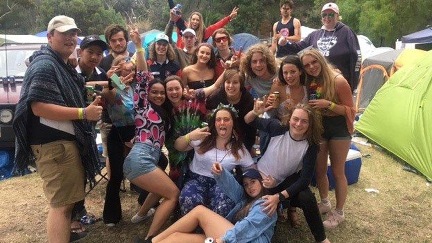 schoolies campers